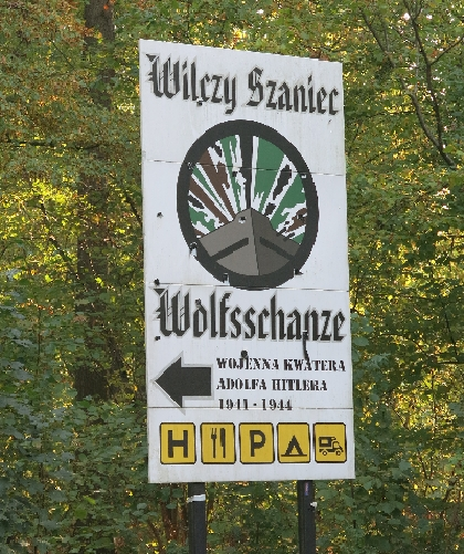Sign for the Wolfsschanze © Sybille Yates