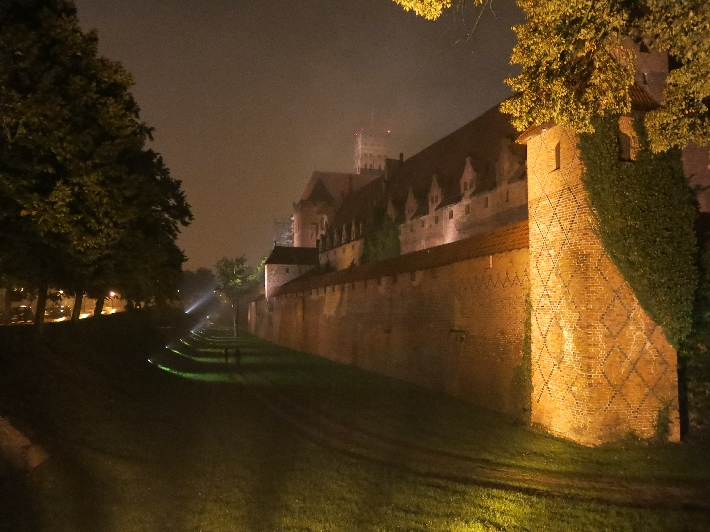 Malbork Castle at night © Sybille Yates