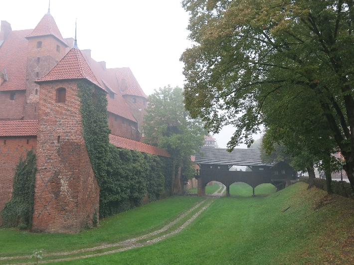 The moat at Malbork Castle © Sybille Yates