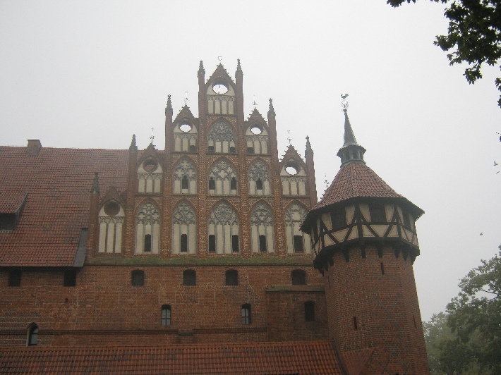 Some of the amazing architecture of Malbork Castle © Ricky Yates