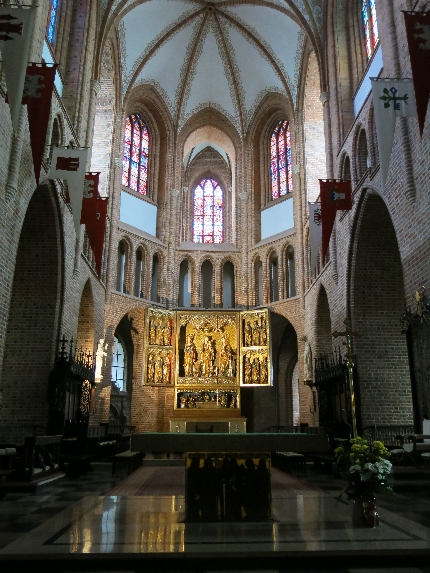 The interior of Poznan Cathedral © Sybille Yates