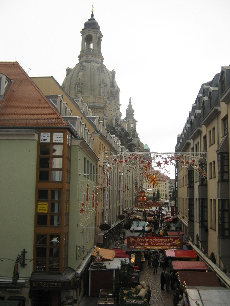 Dresden Christmas Markets adjacent to the Frauenkirche © Ricky Yates