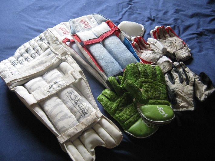 My donated cricket kit © Ricky Yates