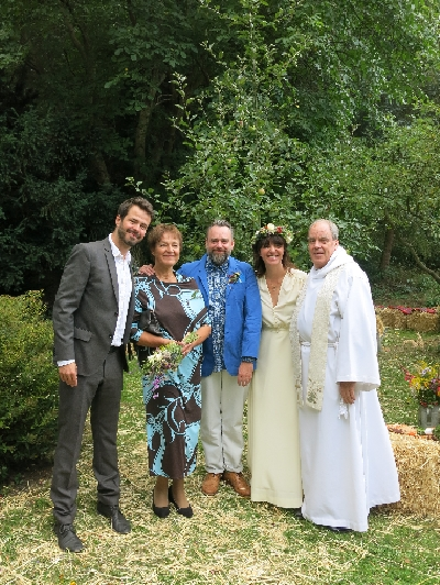 From L to R: Aleš, Jana (Michaela's Mum), Paul, Michaela, Yours Truly © Sybille Yates