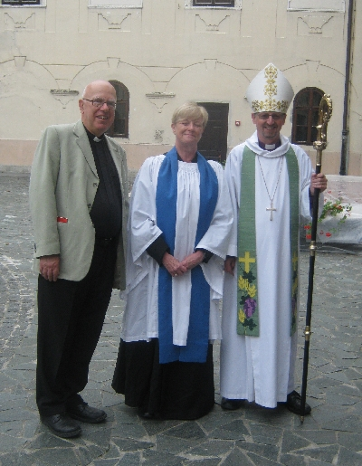 Janet, with Bishop Robert & her & my new Archdeacon Colin Williams © Ricky Yates