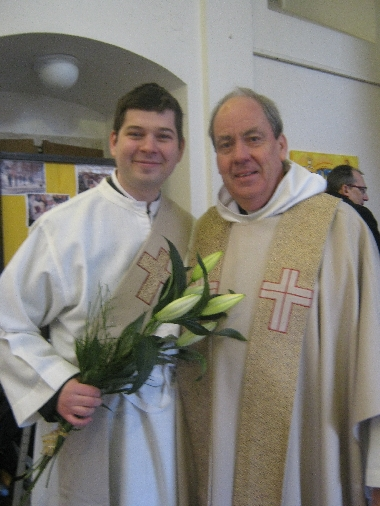 With Martin following his ordination as deacon © Ricky Yates