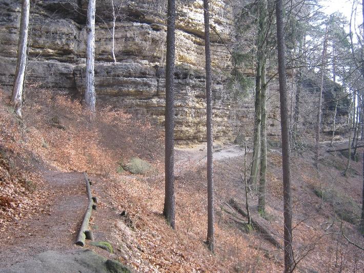 The path alongside cliffs © Ricky Yates