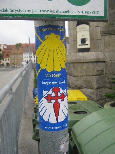 Waymarking of the pilgrimage routes © Ricky Yates