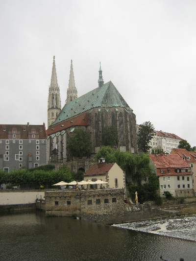 The Church of St Peter & St Paul, Görlitz, overlooking the Neiße river © Ricky Yates