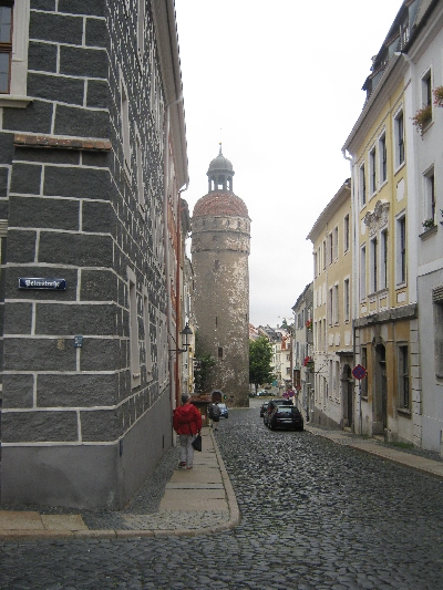A side street & ancient tower in Görlitz © Ricky Yates