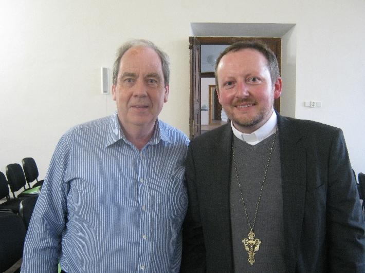 Yours Truly with the Bishop-elect, Pavel Stránský © Ricky Yates