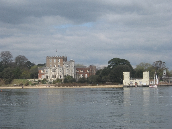 The castle on Brownsea Island, as seen from the  ferry from Sandbanks © Ricky Yates