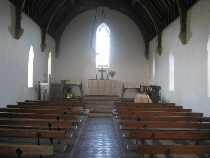 Interior of St Tecwyn's Church, Llandecwyn