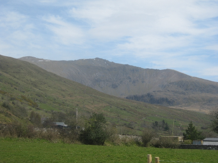 Snowdon, the highest mountain in Wales, still with little snow in sheltered places © Ricky Yates
