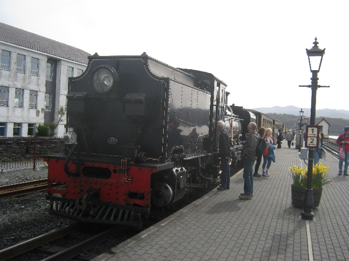 My train - ready to depart from Porthmadog © Ricky Yates