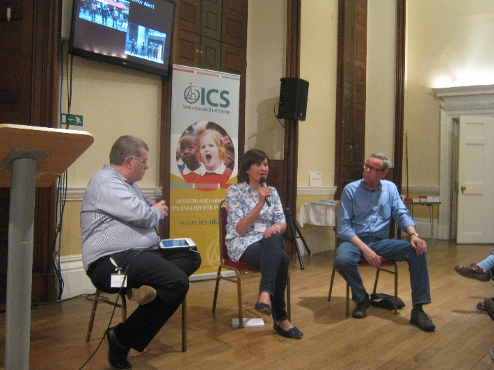 Alyson Lamb and Paul Vrolijk being interviewed by Richard Bromley, ICS Mission Director © Ricky Yates