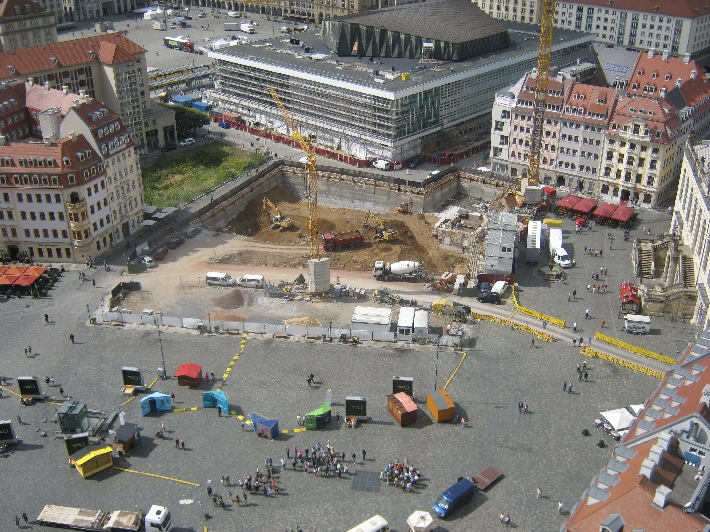 Neumarkt, with construction work continuing © Ricky Yates